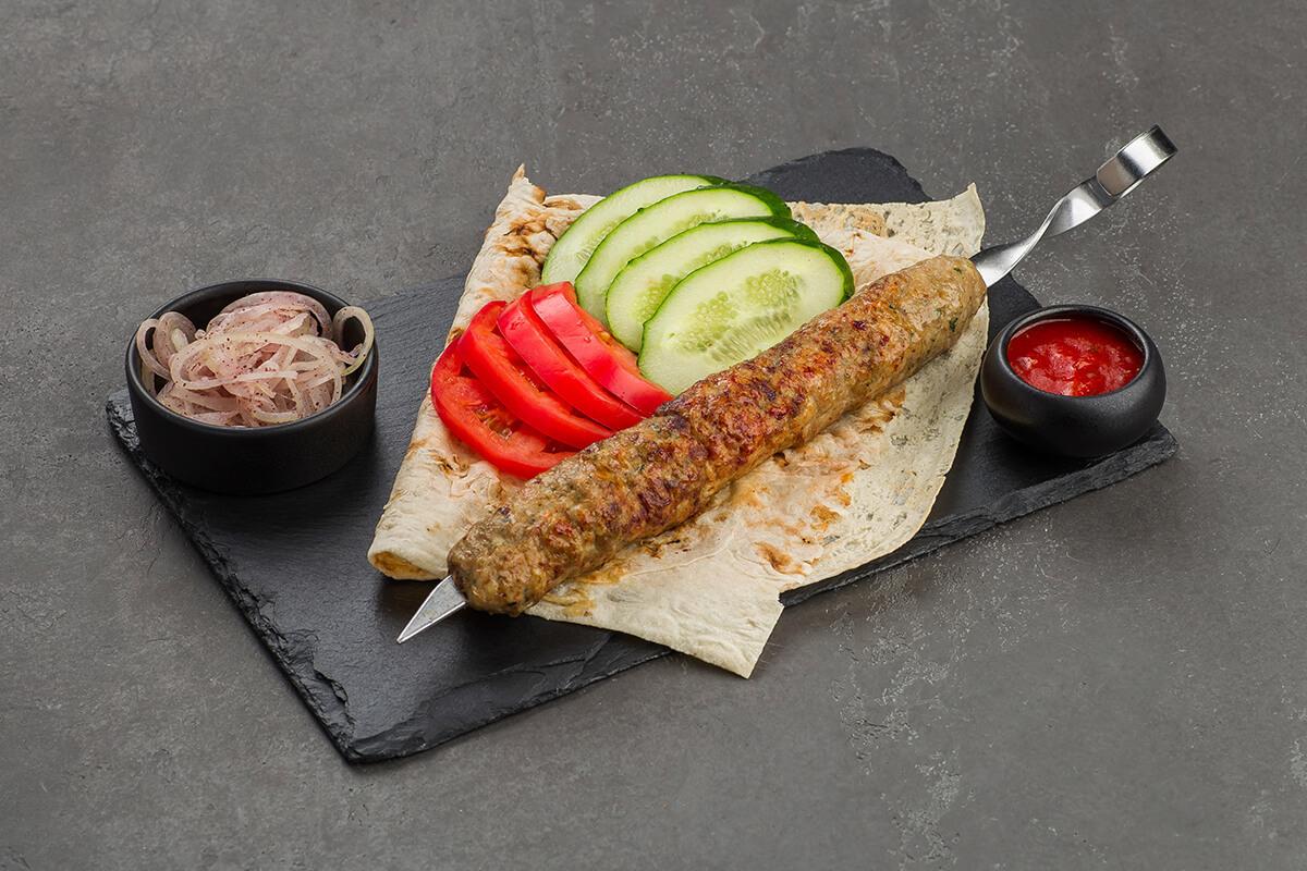 Люля-кебаб из цыплёнка и баранины